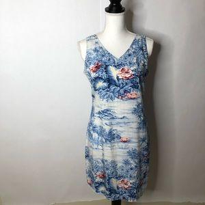 Liz Claiborne size 6 dress.  Flowers mostly blue